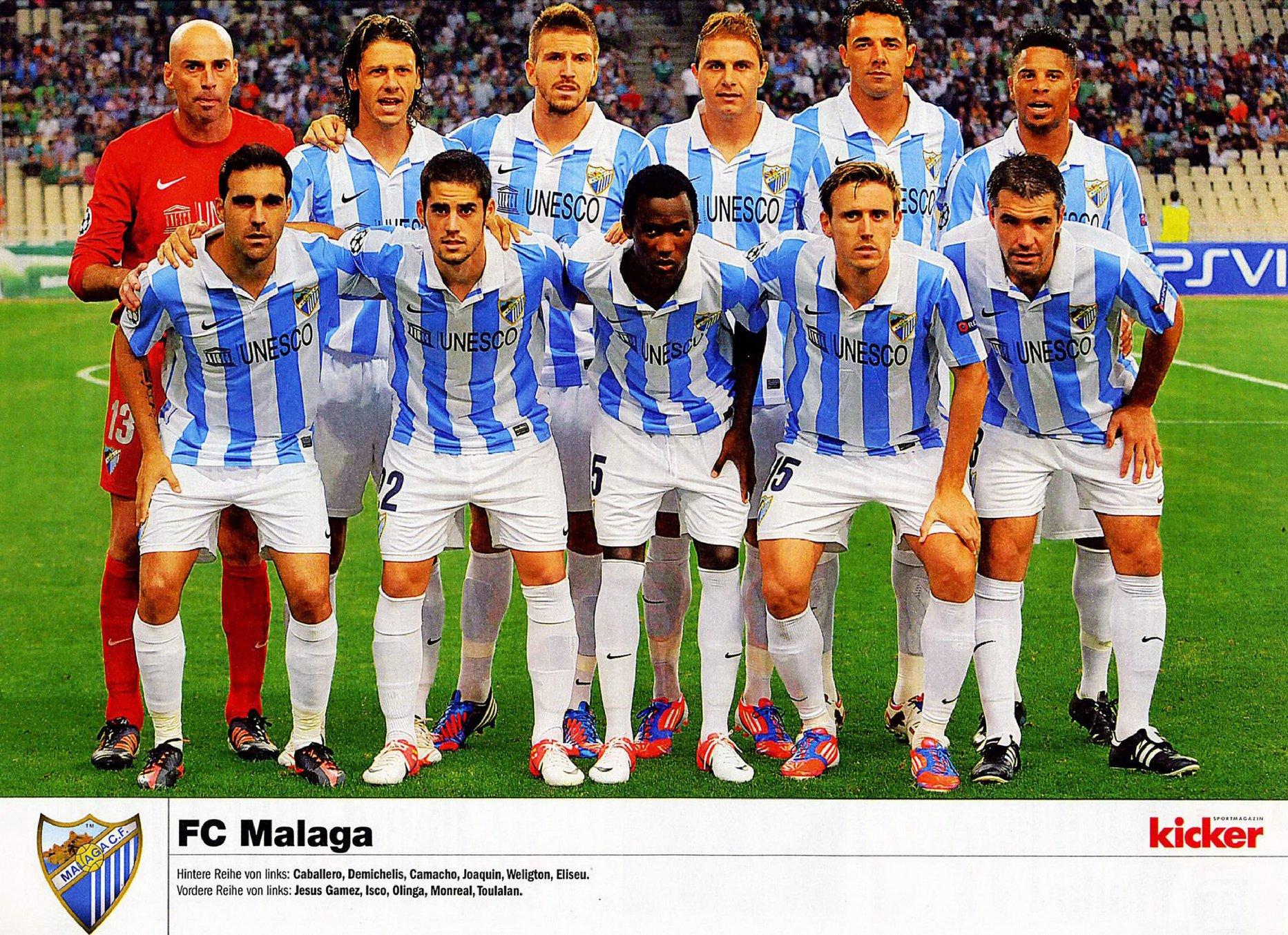 Mannschaftsinfo: Málaga Club de Fútbol